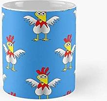 Chicken Or Egg Blue Fun Animal Print Classic Mug |