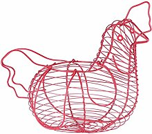 Chicken Shaped Egg Basket Holder with Pink Plated