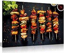 Chicken Skewer Kebab Grill Turkish Restaurant