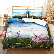 Chickwin 3 Piece Bedding Set, Single Double King &
