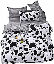 Chickwin 4 Piece Duvet Cover Set, Bedding Double
