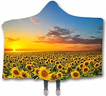 Chickwin City Hooded Blanket for Adult Kids,
