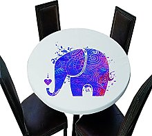 Chickwin Elastic Edged Round Tablecloth, 3D Animal