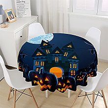 Chickwin Halloween Round Tablecloth Waterproof