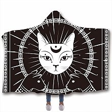 Chickwin Hooded Blanket for Adult Kids, 3D Cute