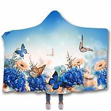 Chickwin Hooded Blanket for Adult Kids, 3D Elegant