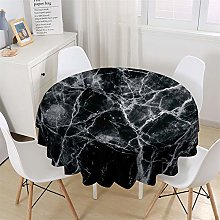 Chickwin Modern Round Tablecloth Marbling Pattern