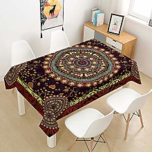 Chickwin Rectangle Tablecloth Bohemia Mandala