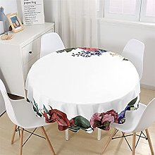 Chickwin Rose Floral Print Round Tablecloth,