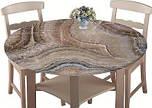 Chickwin Round Fitted 3D Tablecloth with Elastic