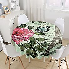 Chickwin Round Fitted Tablecloth Waterproof