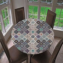 Chickwin Round Fitted Tablecloth with Elastic
