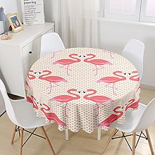 Chickwin Round Tablecloth with 3D Flamingo