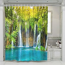 Chickwin Shower Curtain for Bathroom with 12