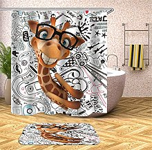 Chickwin Shower Curtain Waterproof Mold Proof 3D