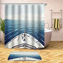 Chickwin Shower Curtain with Hooks, Waterproof