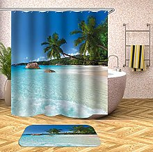 Chickwin Shower Curtain with Hooks,