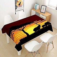 Chickwin Tablecloth Animal Elephant Print