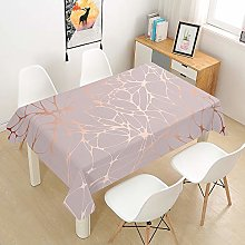 Chickwin Tablecloth Pink Marble Print Tablecloths