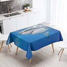 Chickwin Tablecloth Rectangle Wipe Clean, Blue Sea