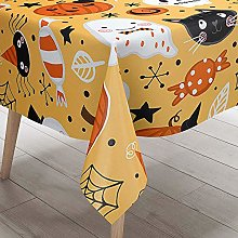 Chickwin Tablecloth Wipe Clean, Halloween Skull