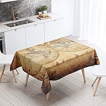 Chickwin Tablecloth Wipe Clean Rectangle, World