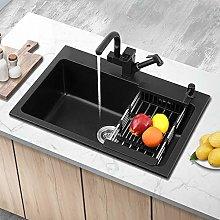 chicstyleme Kitchen Sinks Dishwashing Quartz Sink,