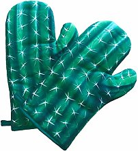 ChienAndalucia Cactus Green Oven Gloves (Pair of
