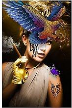 Chifang Abstract Smoking Women Posters Paintings