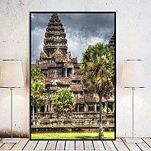 Chifang Angkor Wat Temple Cambodia Canvas Print