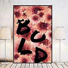 Chifang Bold Canvas Print Wall Art Painting for