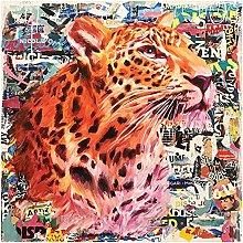 Chifang Graffiti Colorful Wild Leopard Animal Art