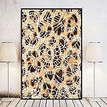 Chifang Leopard Print Mandala Artistic Wall Art