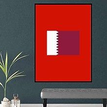 Chifang Qatar Red Canvas Print Wall Art Painting