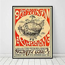 Chifang Vintage Rock Poster and Print Music