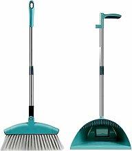 Chifans Long Handle Dustpan Cleans Broom Combo