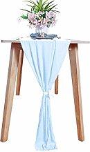 Chiffon-Table-Runner 29x120-Inch Baby Blue Wedding