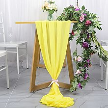 Chiffon Table Runner 29x120 Inches Yellow Soft