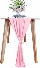 Chiffon-Table-Runner Pink Sheer Table Runner 2