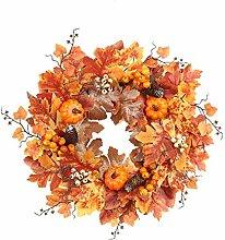 CHIHUOBANG 21.65inch Halloween Wreath Artificial