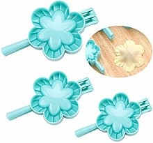 Chikanb 3 Pcs Flower Shaped Ravioli Dumpling Maker