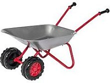 Child'S Metal Wheelbarrow With Double Front