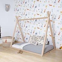 CHILDHOME Tipi Bed Frame 70x140cm Wood Natural