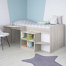Children's Cabin Bed, Happy Beds Pilot Elm