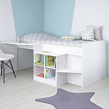 Children's Cabin Bed, Happy Beds Pilot White