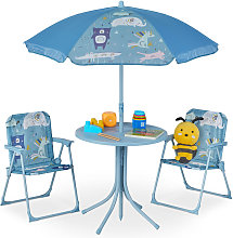 Children's Camping Furniture Set with Parasol,