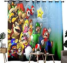 Children's Curtains Super Mario Game Thermal