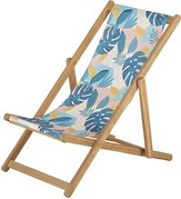 Children's deckchair in solid acacia and