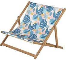 Children's double deckchair in solid acacia