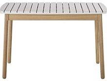 Children's garden table in light grey solid